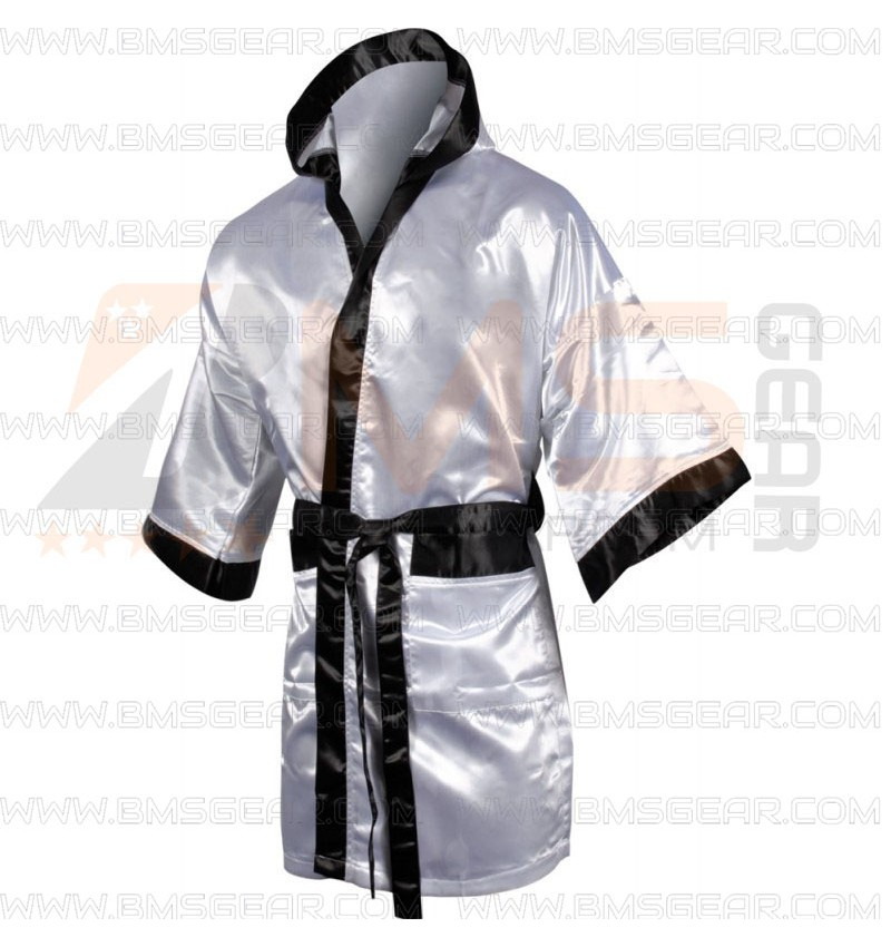 Personalised Boxing Robes: Full Length Boxing Robe With Hood Suppliers Pakistan