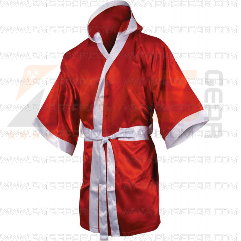 Personalised Boxing Robes: BMS Boxing Robes, Custom Boxing Gown Supplier And Manufacturer